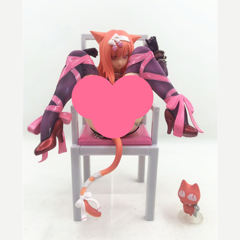 Japan Anime Embrace sexy Cat Girl Action figure Chu-kana Neko to Isu Cat and Chair Special Color Ver Collectible Model Doll Toy