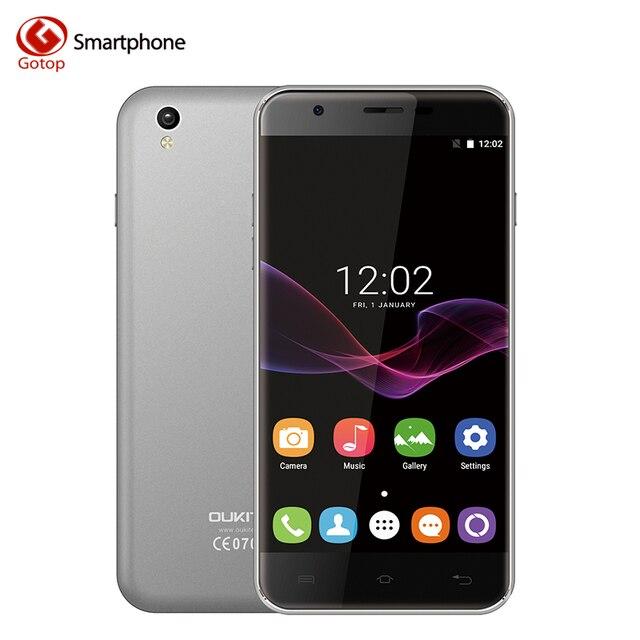 Original Oukitel U7 Max 5.5 Inch Smartphone Android 6.0 MT6580A Quad-Core Cell Phone 1GB RAM+8GB ROM 8.0MP 3G WCDMA Mobile Phone