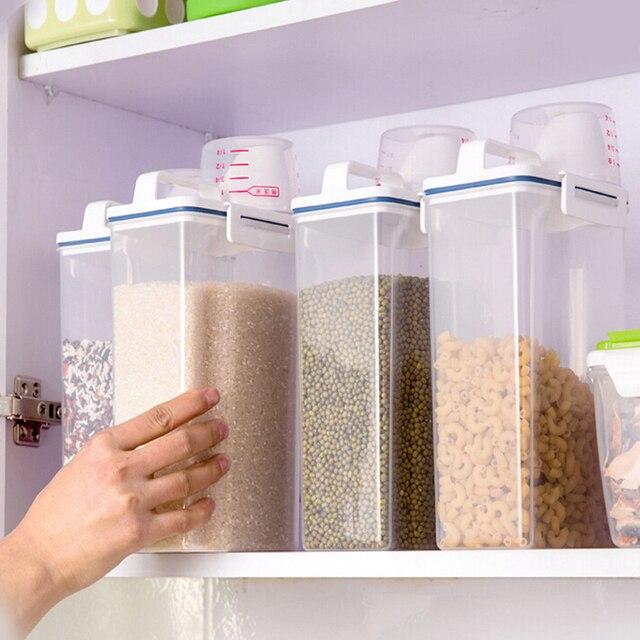 Kg Portable Bote De Rangement De Cuisine Tasse  Mesurer Avec Un