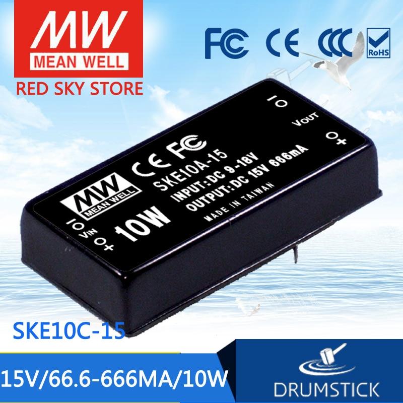 цена на Selling Hot MEAN WELL SKE10C-15 15V 666mA meanwell SKE10 15V 10W DC-DC Regulated Single Output Converter