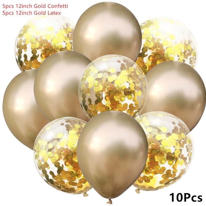10pcs lot Birthday Balloons 12inch Latex Helium Balloon Thickening Metal Party Balloon Party Ball Kid Child Toy Wedding Ballons in Ballons Accessories from Home Garden