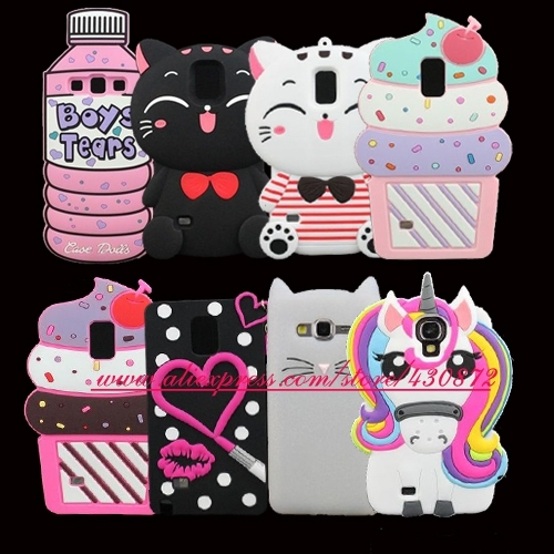 detailed pictures 03165 f093c US $3.35 |3D Silicon Cupcake Cat Sexy Lip Unicorn Cartoon Minnie Soft Case  Cover for Samsung Galaxy S3 S4 S5 S6 S7 Edge S9 S8 PLUS Note 4-in ...