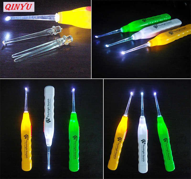 Iluminado linterna 1 Uds oído limpiador en forma de cuchara EarpickEar recoger luz LED de dibujos animados cuchara oído importa 8ZCF073-1