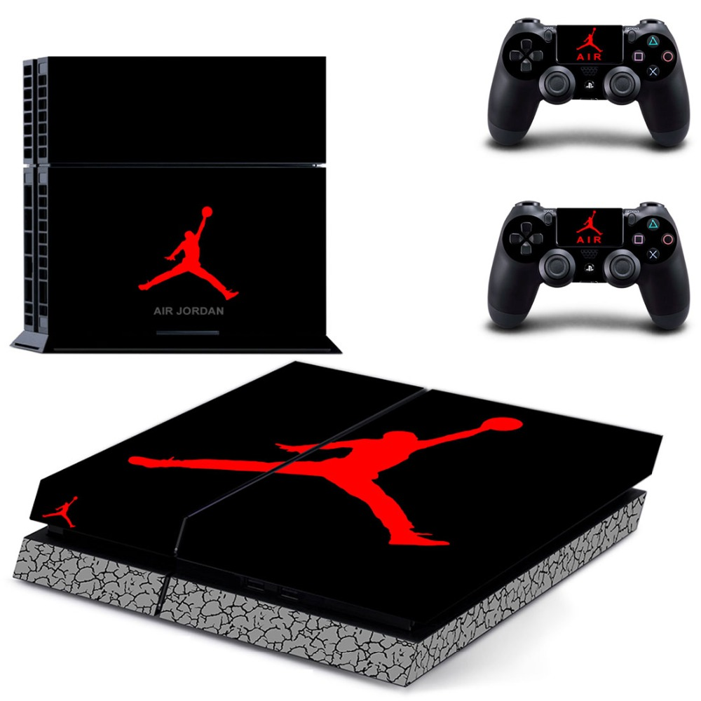 sports shoes 0c82d b0dd8 US $7.89 21% OFF Air Jordan PS4 Skin Sticker Decal Vinyl for Sony  Playstation 4 Console and 2 Controllers PS4 Skin Sticker-in Stickers from  Consumer ...