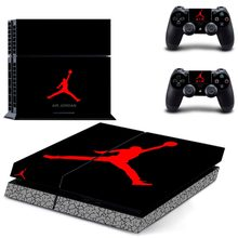 Air Jordan PS4 Kulit Sticker Decal Vinyl untuk Sony PlayStation 4 Konsol dan 2 Controller PS4 Kulit Sticker(China)