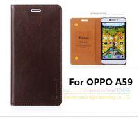 Top Qualität Echtes Leder Stand Mode Buch Stil Handy Fall Für OPPO A59 A59m (5,5