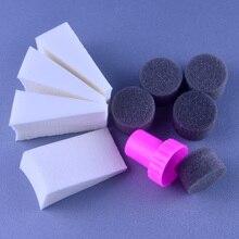 2020 New 10pcs Woman Salon Nail Sponges for Acrylic Makeup Manicure Nai