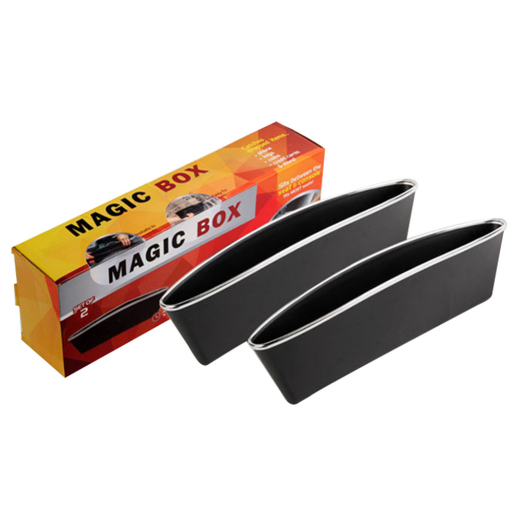 2pcs/Set Black Catch Catcher Storage Organizer Box Caddy Car Seat ...