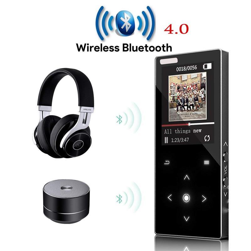 2018 Bluetooth4.0 MP4 Joueur avec Haut-Parleur Tactile Bouton 8 GB 16 GB Sans Perte HiFi Lecteur de Musique avec E-book, Radio FM, Lecteur Vidéo