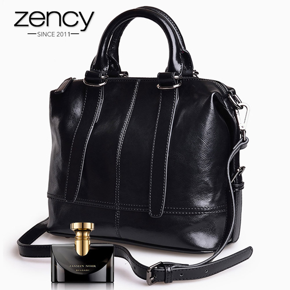 Zency New Fashion 100% Genuine Leather Elegant Women Handbags High Quality Lady Messenger Crossbody Bag Luxury Female Tote Purse
