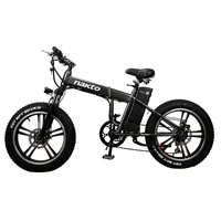 20inch electric snow bicycle fold fat e bike 48V lithium battery 350w high speed motor electric mountain bike 4.0 fat tires