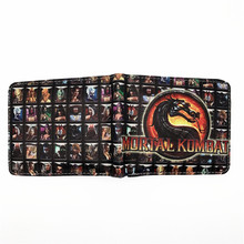 Game Short Wallet Mortal Kombat Thor Saw Inside Out Chucky Thundercats LOL Halo Purse Credit Oyster License Card Man Wallet