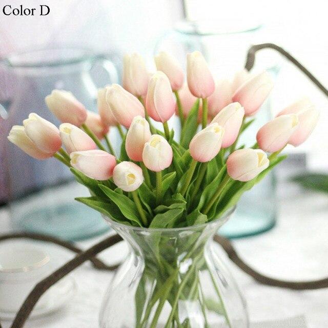 1 PC DELL'UNITÀ di ELABORAZIONE di Tulipani Fiori Artificiali Reale di tocco art