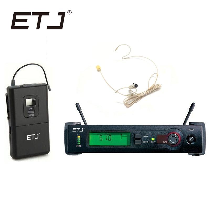 Frete Grátis Top Quality SLX SLX24 BETA58/SM 58 UHF PRO SISTEMA de MICROFONE SEM FIO Com Bodypack Sem Fio de Lapela headset Mic