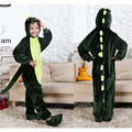 Kiqoo Children's One Piece Long Sleeve Hooded Flannel Animal Pajamas Kids Dinosaur Sleepwear Cosplay Costumes Funny Homewear