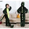 Kiqoo Niños de Una Pieza de Manga Larga de Franela Con Capucha Animal Pijamas Niños Homewear Ropa de Dormir de Cosplay Disfraces Divertidos Dinosaurio