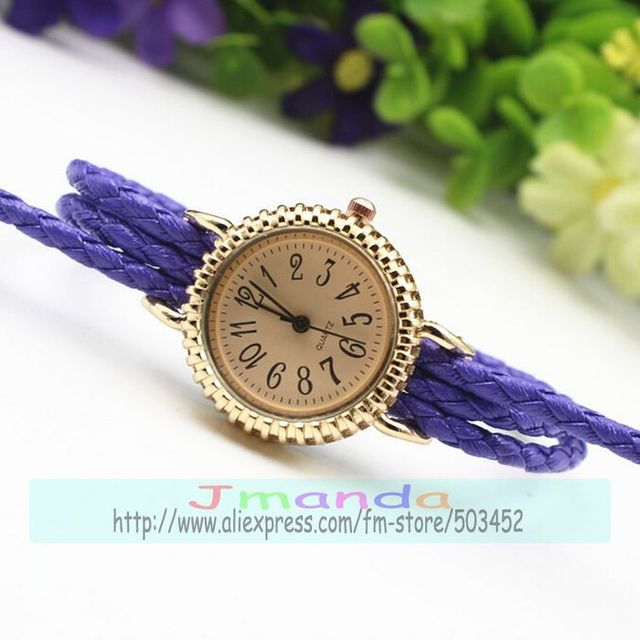 6dde93b45 100pcs/lot new arrival lady weave watch braided design wrap around quartz watch  wholesale price dress casual watch for women