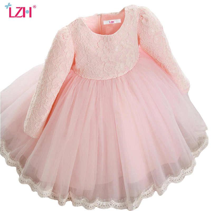 Lzh Vestido Elegante Para Niñas 2017 Otoño Invierno Para Niñas Vestido De Princesa De Manga Larga Para Niñas Vestido De Fiesta De Boda Ropa Para Niños