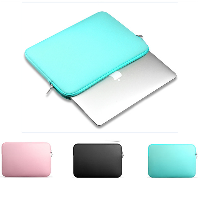 цены на 2017 Fashion Soft Sleeve Laptop Bag Case For apple mac Macbook AIR PRO Retina 11,12,13,15 inch Notebook Bag 14 free shipping