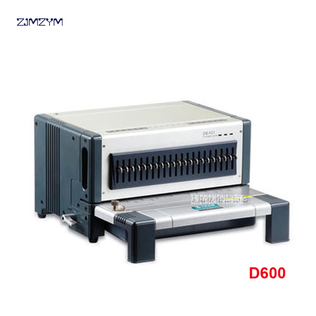 US $1171 16 8% OFF|Electric punch and binding machine all in one, comb  binding machine and wire binding machine combo, heavy duty D600 S600-in  Binding