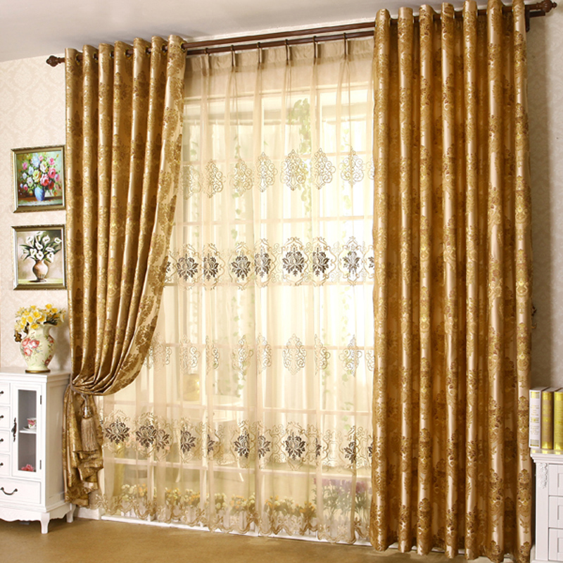 High Grade American Country Embroidery Embroidered Curtains Sunroom Living  Room Floor Bedroom Blankets And Tulle(
