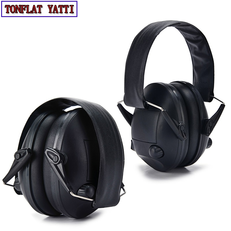 Military army Tactical battlefield Shooting Ear With Pickup Function Folded Sport Hunting Electronic Hearing Protection Earmuff