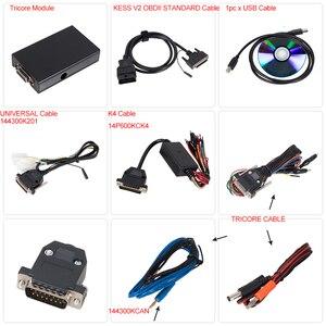Image 3 - KESS v2 V5.017 V2.53 EU Red OBD 2 ECU Programming tool No Token limit KTAG V7.020 4 LED Master Version car truck chip Tuning Kit