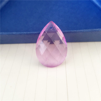 Noble Lilac Color 120pcs 38mm Crystal Almond Grid Chandelier Drop Hanging Pendants For Suncatcher Diy Hanging Hotel Lamp