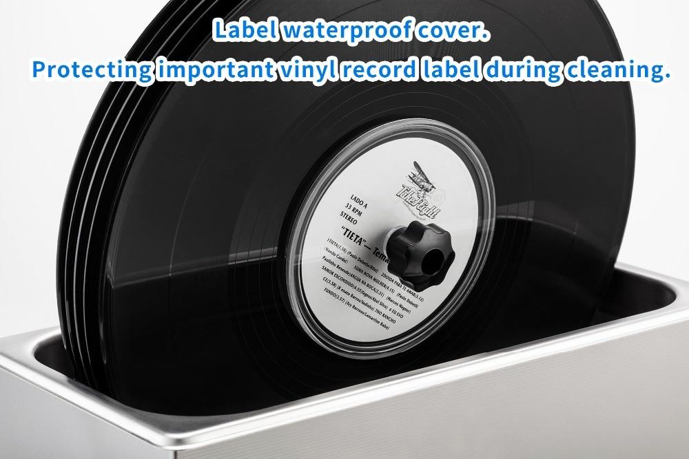 GTSONIC Ультразвуковой очиститель виниловых пластинок с кронштейном для очистки 12 дюймов LP 7 дюймов EP дисков