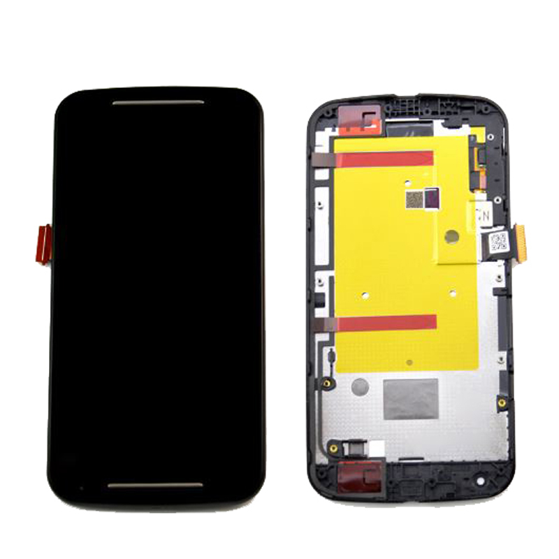 For Motorola MOTO G2 XT1063 XT1064 XT1068 XT1069 LCD Display With Touch Screen Digitizer Assembly with frame Free Shipping new lcd display touch screen digitizer with frame for motorola moto g2 g 2nd xt1063 1064 1068 1069 free shipping