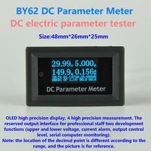Gwunw by62 dc 0-100 v 4bit tensão atual capacidade de potência medidor temp wh oled multifunções dc testador de parâmetro elétrico