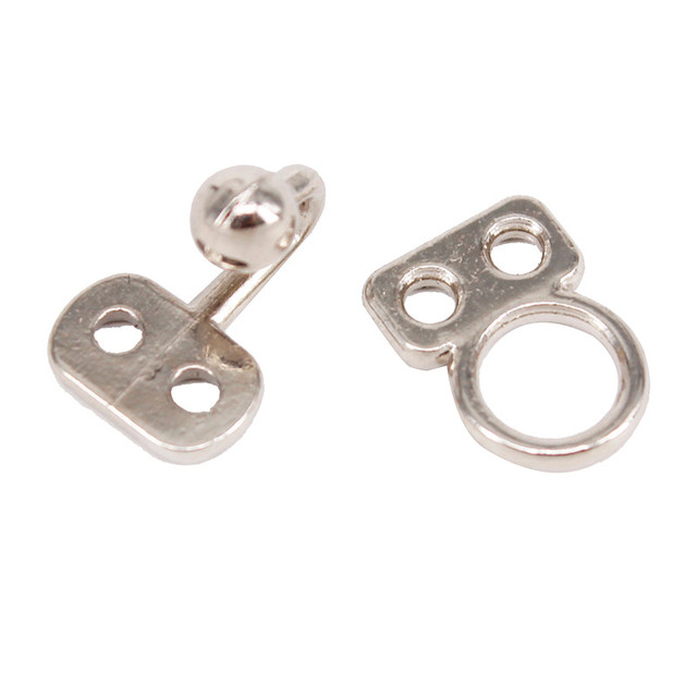 20set Silver Metal Closure Waist Extender Hooks & Eyes Clasp 19mm x 7.5mm Sewing for Bra Swimsuit