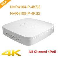 DH NVR NVR4104 P 4KS2 NVR4108 P 4KS2 4 k высокой четкости 4ch 8chl Smart 1U 4PoE H.265 Lite Сетевой Видео Регистраторы системы видеонаблюдения