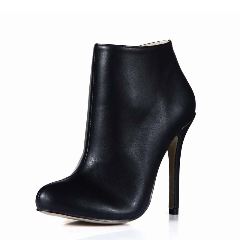 2017 shoes woman ankle boots women winter high heels PU leather zapatos botas mujer invierno ladies party dress valentine shoes