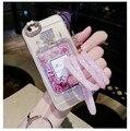 Блеск любовь Зыбучие Пески ясно ТПУ Телефон Case luxury 3D bling rhinestone алмаз флакон духов shellfor iphone 5 5s se 6 6 s plus