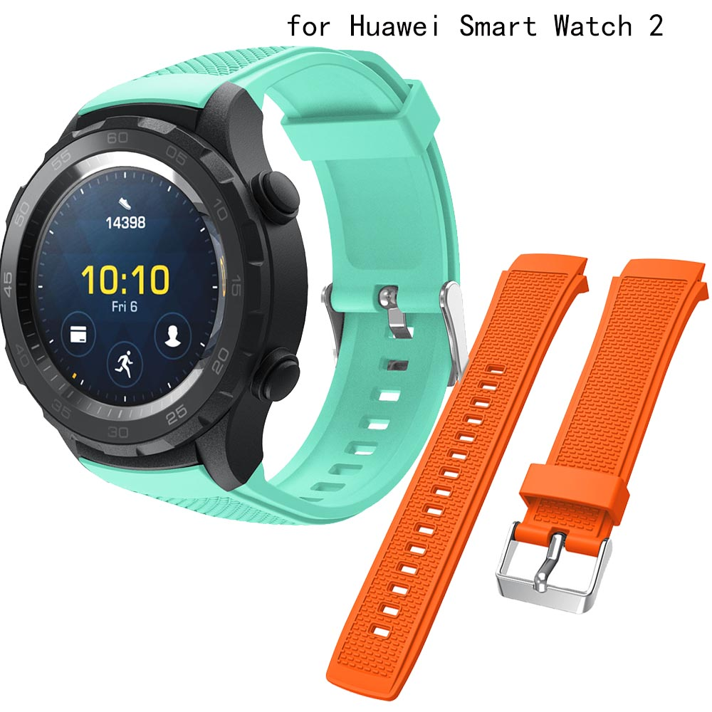20mm Strap For Huawei Watch 2 Wristband Straps Watch Band Accessories Bracelet Adjustable Replacement Sport Silicone Watchbands