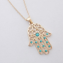Fatima Hamsa Pendants Necklace