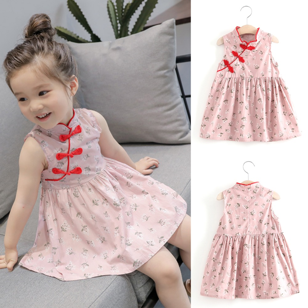 50980b720 2019 Puseky Fashion 1 6Y Summer Kids Baby Girls Dresses Chinese ...