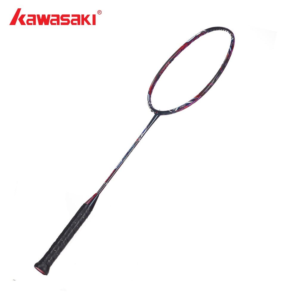 Kawasaki Brand Attack Type Badminton Racket WOVEN-Ti Technology Racquet For Senior Players With Badminton Racket Bag Mao 18 II