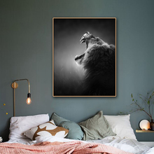 Roaring Lion Animals Print On Canvas Painting Calligraphy Home Decor Wall Pictures Posters for Living Room Bedroom Decoration цена