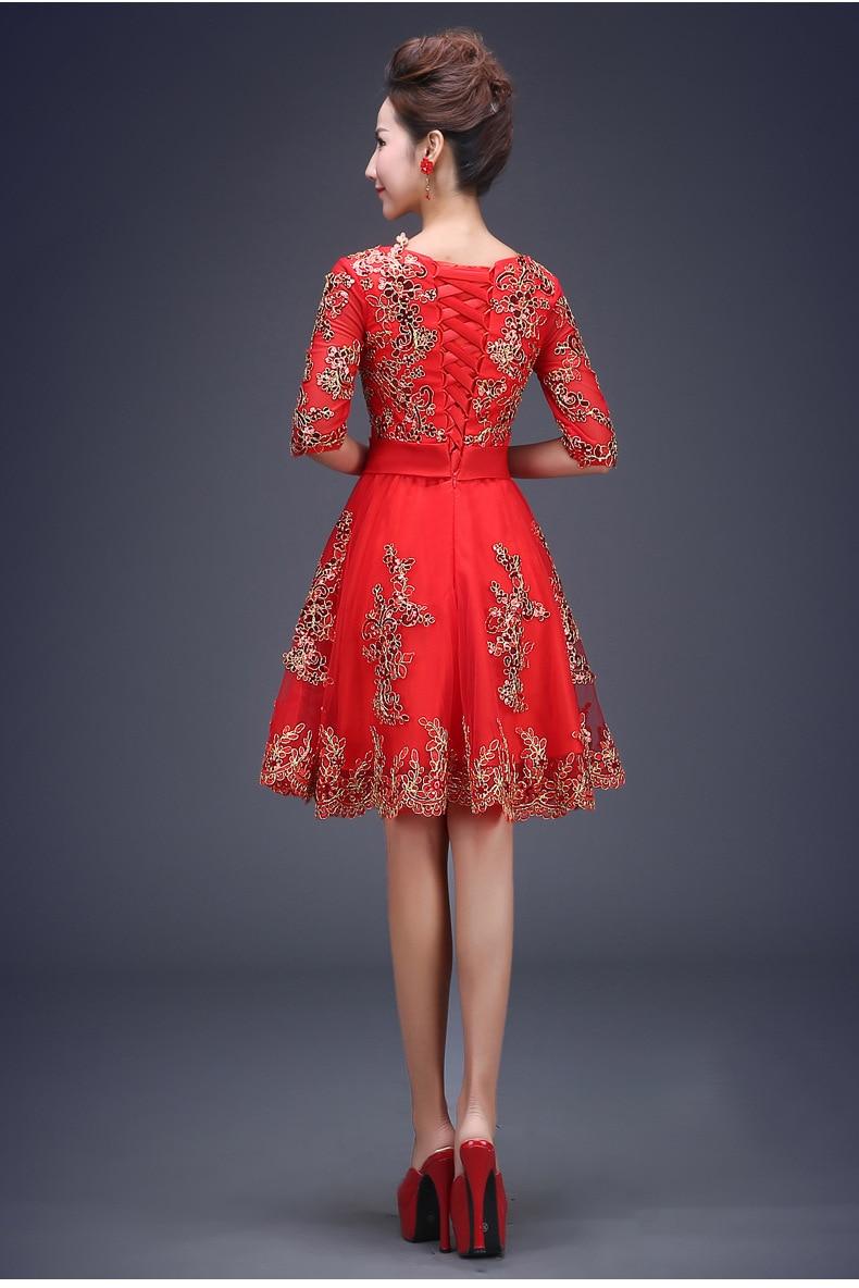 Único Vestido De Fiesta De Encaje Rojo Ideas Ornamento Elaboración ...