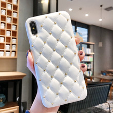 GT leather Small fragrant wind mobile phone case for iPhone x 8plus 8 7 7plus 6 6s 6splus Luxury shell cover