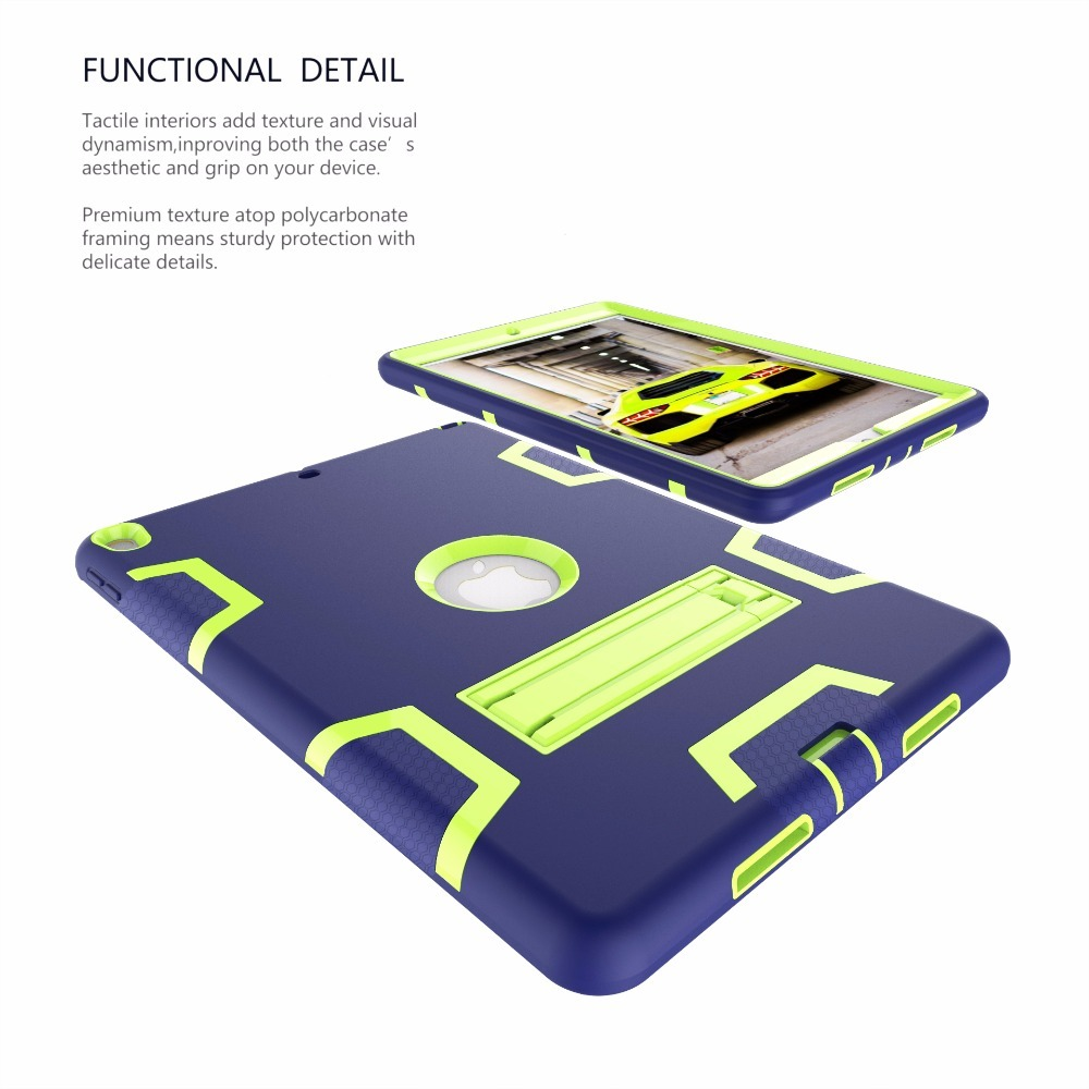 New 2017 For iPad Pro 10.5 Case EVA Heavy Duty Shockproof Hybrid Rubber Rugged Hard Impact Protective Skin Shell Case