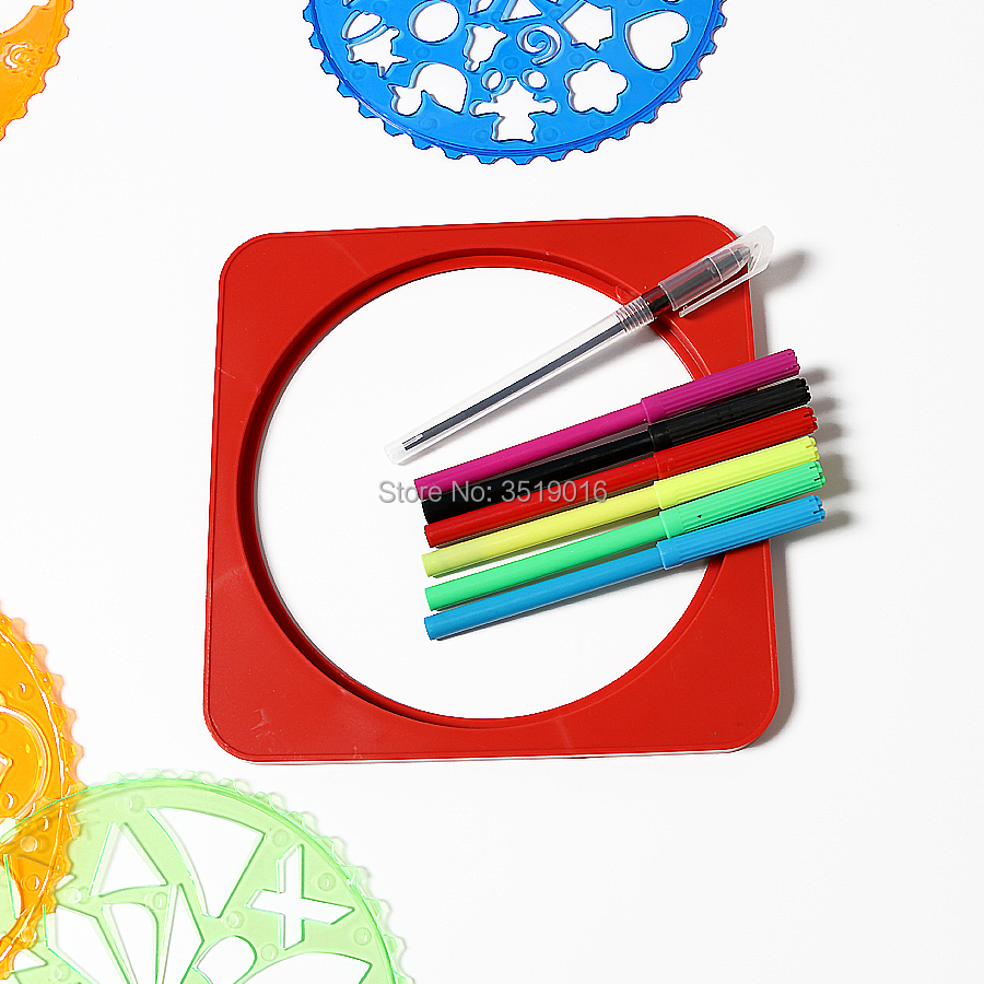 Creative Diy Drawing Templates With Fixed Board Ruler Sketcher Toy Spirograph Stencils Art For Painting Learning Educational Toy Learning & Education