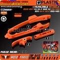 Orange cadeia guia deslizante deslizante braço oscilante com braçadeira de mangueira do freio para ktm SX SMR SXF XC XCF 125 150 200 250 350 450 525 2011-2017