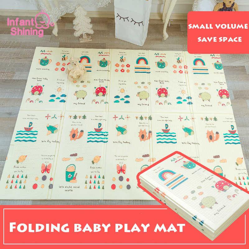 Детский Блестящий игровой коврик для малышей Складной Детский Экологический коврик для пикника 150*200 см XPE коврик для ползания игровой коврик для комнаты пенопластовый коврик