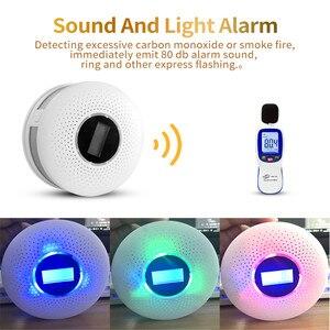 Image 4 - 2 in 1 LED Digital Gas Smoke Sensor Alarm Co Carbon Monoxide Detector Voice Warn Sensor Home Security Protection High Sensitive