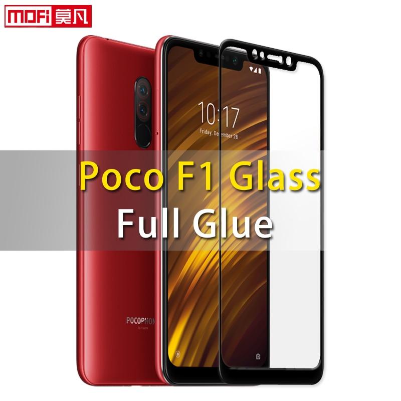 Xiaomi Pocophone f1 glass screen protector full glue full cover mofi ultra thin clear Xiaomi Poco f1 pocophone f1 screen glass
