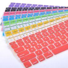 Силиконовая Защитная крышка клавиатуры для Apple Pro 13 15 17, Pro Air 13 мягкие наклейки на клавиатуру 9 цветов