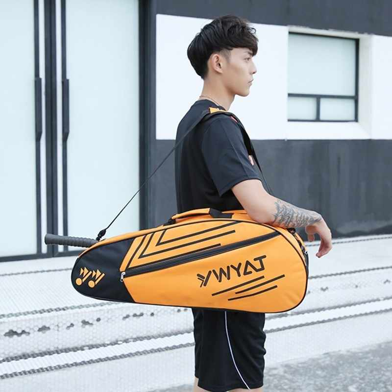 Badminton Racket Bag 3/6 pcs for Men and Women Shoulders Tennis Racquet Backpack Thicken Sports Bags with Free Shoebag L2009SPD